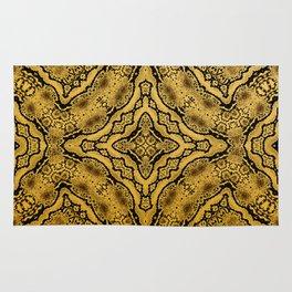 abstract jewel gold black Rug