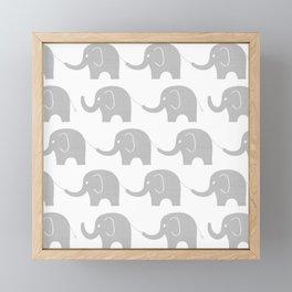 Grey Elephant Parade Framed Mini Art Print