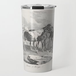 Horses of Auvergne,1822 Travel Mug