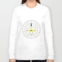 bill cipher Long Sleeve T-shirts featuring Bill Cipher summoning by Rebecca McGoran