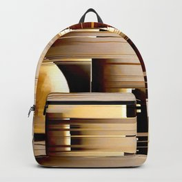 earth abstract geometrical striped pattern Backpack