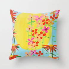 Big hard sun Throw Pillow
