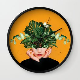 Lady Flowers || Wall Clock