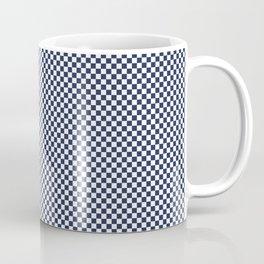 Dark Sargasso Blue and White Mini Check 2018 Color Trends Coffee Mug