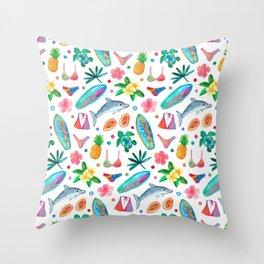 Dotty Summer Beach Pattern Throw Pillow