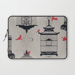 Kiss Empty Brid Cages Laptop Sleeve