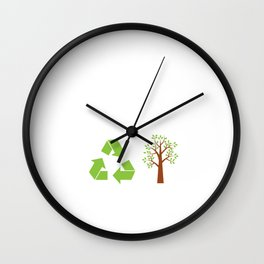 Happy Earth Day Recycle Wall Clock