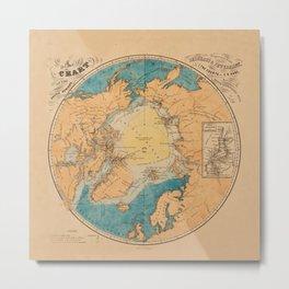 Map Of The Arctic 1860 Metal Print