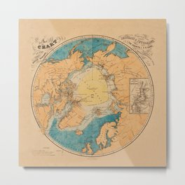 Map Of The Arctic 1860 Metal Print