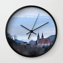 Basilica of Covadonga in the mountains, Spain Wall Clock