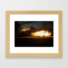 Shockwave Jet Truck Framed Art Print