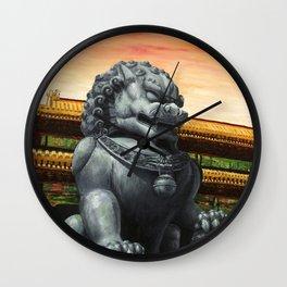 Fu Dog Wall Clock