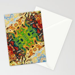 abstract liquify psychedelic art Stationery Cards