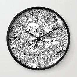 Random Doodles Wall Clock