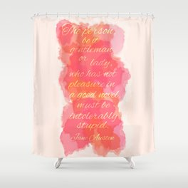 A Good Novel Shower Curtain