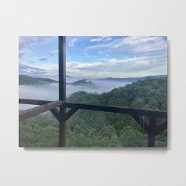 """Smokey Mountain View"" Photography by Willowcatdesigns Metal Print"