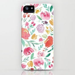 Peony Roses and Floral blooms iPhone Case