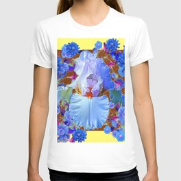 PASTEL IRIS & BLUE  BLUE FLOWERS YELLOW PATTERNS  FLOWERS ART FLOWERS T-shirt