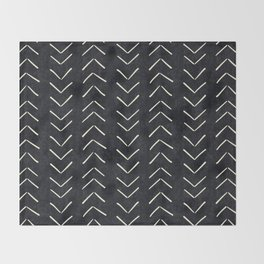 Mudcloth Big Arrows in Black and White Decke