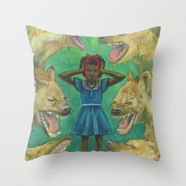 """""""Little Girls Cannot Fly"""" they said Throw Pillow"""