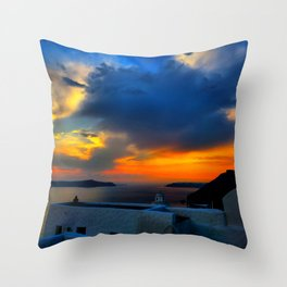 Santorini 28 Throw Pillow