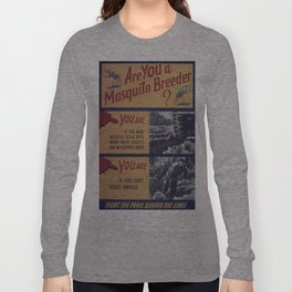 Vintage poster - Mosquito breeder Long Sleeve T-shirt