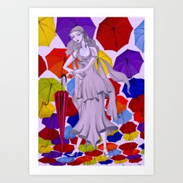 Needs an umbrella? Art Print