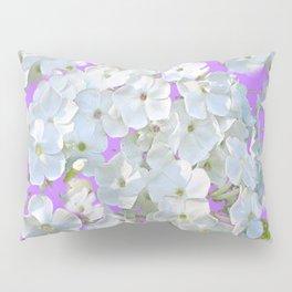 DELICATE LILAC & WHITE LACE FLORAL GARDEN PATTERNS Pillow Sham