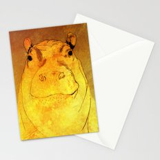Golden Hippo Stationery Cards