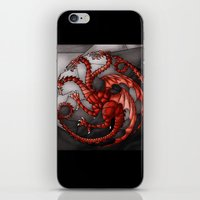 targaryen iPhone & iPod Skins featuring House Targaryen Stained Glass by itsamoose