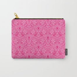 Floral Mandala in Pink Carry-All Pouch