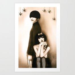 The Dahlia Twins Art Print