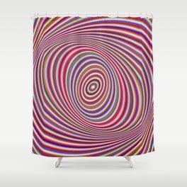 Neon hypnosis Shower Curtain