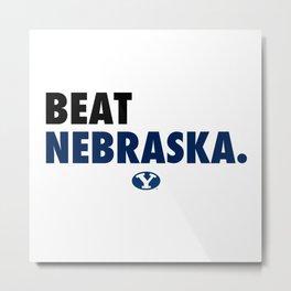 BYU Beat Nebraska Metal Print