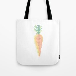 Double Carrot -- Stitchable Real Cross Stitch Pattern - Color Coded - Tote Bag