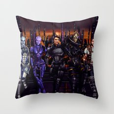 Mass Effect - Team of Awesomness Throw Pillow