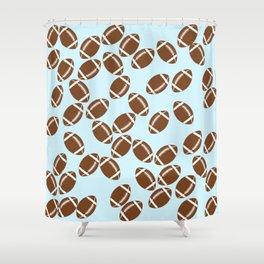 Cute Football Shower Curtain