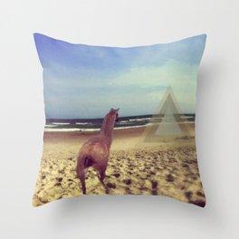 Ethereal Llama Throw Pillow