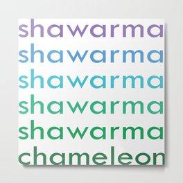 shawarma chameleon Metal Print