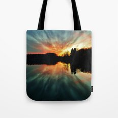 Magical evening at the lake Tote Bag