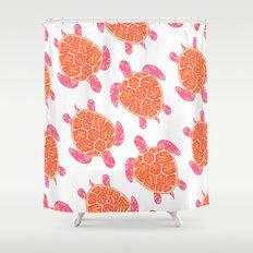 Sea Turtle – Melon Palette Shower Curtain