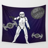 storm trooper Wall Tapestries featuring storm trooper by Agentsassy