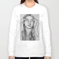 cara Long Sleeve T-shirts featuring Cara by David Pérez