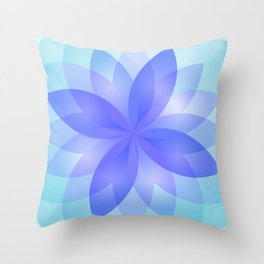 Abstract Lotus Flower G303 Throw Pillow
