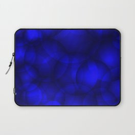 Glowing blue soap circles and volume sea bubbles of air and water. Laptop Sleeve