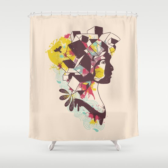 Overcrowded Memory Shower Curtain