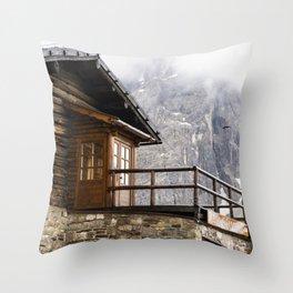 Alpine hut (chalet) Throw Pillow
