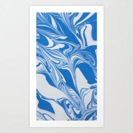 Bleed Tarheel Blue Art Print