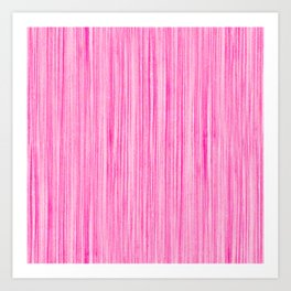 Luscious Lollypop Pink Striped Candy Design Art Print