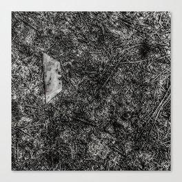 Razor Blade Found Object (Paint Daubs) Canvas Print